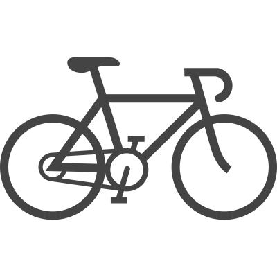 Fahrradfahren und Spazieren
